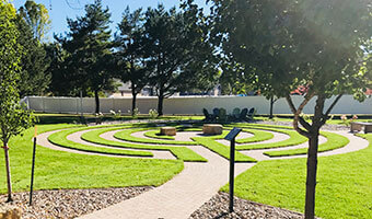 Walk our labyrinth, gaining insight, focus or peace.